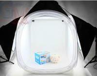 Wholesale 32 quot Photography Photo Studio Cube Tent Softbox Lighting Light Stand Backdrop Kit