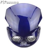 Wholesale PAZOMARED NEW FAIRING HEADLIGHT STREETFIGHTER ENDURO SUZUKI GSX GSXR GS BLUE