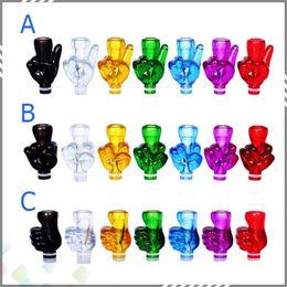 Wholesale Best Finger Style Drip Tip Plastic Drip Tips Middle Finger Big Finger Drip Tip V Shape Finger Mouthpieces For Electronic Cigarette
