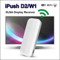 Wholesale iPush D2 MELE I6 DLNA Wifi Display AirPlay Dongle Receiver for Android iOS Tablet PC Smartphone Wireless HDMI Multimedia Share Interactive