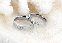 Cheap Couple Rings Rings Best Men's Engagement Titanium Steel Rings