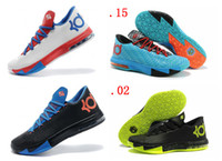 Cheap Wholesale - New KD 6 Basketball Shoes Cheap Mens Basketball Shoes Athletic Kd6 Sneakers Size 40-46 With Logo Sports Shoe Drop Free Shipping