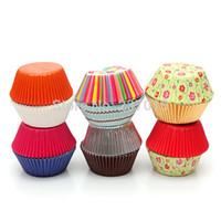 Wholesale 50pcs Cake Baking Paper Cup Cupcake Muffin Cases Liners Wedding Home Party Kitchen