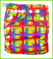 6.5-28 pounds cloth diapers baby - Printed Cloth Diapers Baby Cloth Diaper With Inserts Reusable All In One Size