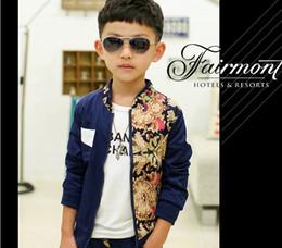 Wholesale 2014 Autumn Children s Korean Style Coat Fashion Classical Printed Boys Casual Jacket