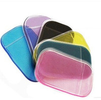 Wholesale New Fashion hot sale Car Dashboard Sticky Pad Mobile Phone GPS Anti slip Mat Holder for iPhone s G HTC Samsung