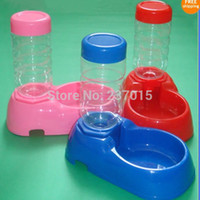 Cheap Applied Pet Dog Cat Automatic Water Dispenser Food Dish Bowl Feeder 500ML Free Shipping