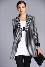 Wholesale 2014 Autumn Casual suit Street style European Style Slim Runway Fashion Trench Coats Trench Coats High quality Blazers large size