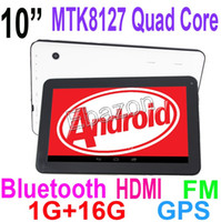 3d webcam - 10 Inch Quad Core MTK8127 GHz Android KitKat GPS Bluetooth FM Tablet PC G RAM G ROM WIFI HDMI G Sensor D Games t10n