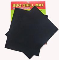 Wholesale 100set BBQ Grill Mat Set of Non Stick Reusable Washable Plate PTFE Coated Telflon Mats