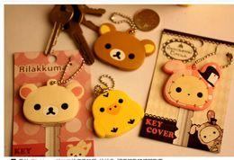 Kawaii Animal Silicon Key Caps Covers Keys Keychain Case Shell Novelty Item,Christmas Gift