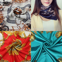 Cheap Lady Fashion Large Square Scarf Silk Head Wrap Kerchief Neck Satin Shawl Bandana Free Shipping