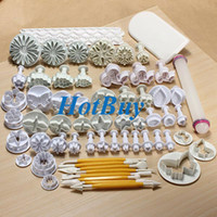 Wholesale 68Pcs Fondant Cake Plungers Mold Sugarcraft Cookies Cutter Decorating Paste Tools Kits