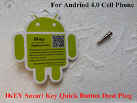 Wholesale New iKey Klick Smart Key Smartkey Press Quick Button With Compatible APP for Andriod Smartphone Phone Anti Dust Proof Plug mm MIKEY