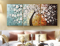 canvas picture frames - 100 handmade pictures on the wall decoration home modern abstract oil painting on canvas for living room set mixorde framed art D502