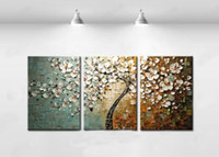 Wholesale 100 handmade pictures on the wall decoration home modern abstract oil painting on canvas for living room set mixorde framed art D495