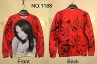 Wholesale 2014 New fashion novelty funny printed D jogging suits for women Galaxy sweatshirts plus size marilyn monroe sweatshirt