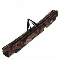 Wholesale New Arrival Folding Fishing Rod Bag High Quality Fishing Pole Bags Gray Camouflage cm Fishing Gear Bag Fishing Tackle Storage