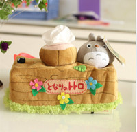 Wholesale Totoro and Stump Pattern Plush Tissue Box Cover