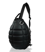 Wholesale Novelty Women s Men s Grenade Shape Shoulder Bags Canvas Chest Bags Cross Body Bags Leather Laptop Bags
