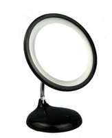 Wholesale In stock black Makeup Cosmetic Mirror x Magnifying With Led Light Dt109