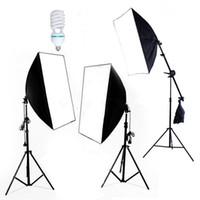 Kits lighting kit - Photography Photo Soft box Studio Lighting KIT Continuous Photo Video Softbox Lighting Light Kit