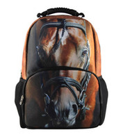 Wholesale new fashin horse face backpack high quality art school bag for student D laptop bag stylish travel bag P31