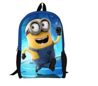 Wholesale Hot sale cartoon school bags for kids gift Minions boys bag D shoulder children knapsack P05
