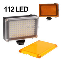 Wholesale 112 LED Mode Video Light with Colors Transparent Filter Cover Brown White