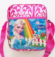 baby boy schoolbag - Snow princess the newest baby girl boy cartoon schoolbag children travel backpack Blue rainbow colors shoulder bag EMS