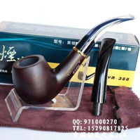 Cheap Wholesale-OP-8 Tools Gift Set Sandalwood Smoking Pipe 14cm Wood Tobacco Pouch Best Briar 9mm Filter Smoking Pipe