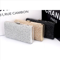 Wholesale Woman Evening bag Women Diamond Rhinestone Clutches Crystal Day Clutch Wallet Purse for Wedding Party Banquet Black Gold Silver