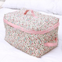 Wholesale New Cotton Fabric Multifunction Make up Organizer bag Women Cosmetic bags Ourdoor Travel Storage Bag Handbag