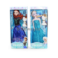 Cheap 2014 HOT NEW Wholesale - DHL Free Shipping Frozen Princess Dolls Action Figure Toys Classic Play Set Elsa Anna Olaf 11 inch
