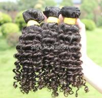 100g Brazilian Hair Natural Color Rosa Hair Products Brazilian Deep Wave Human Hair Extensions Remy Hair Bundles 3pcs lot Brazilian Weave Bundles Free Shipping