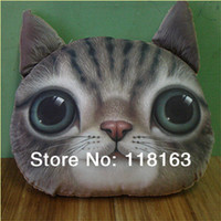 Cheap 2pcs lot 3D Printing Cat Plush Pillows Toy Doll Stuffed Soft Cushion 5 Designs Animal Pillow Birthday Gift Home Decoration