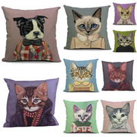 Wholesale New Cute Cat Pattern Pillow Cases CM High Quality Cartoon Cushion Covers Pillow Cases EHE50