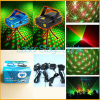Wholesale 180pcs free DHL Fedex Black and blue Mini Projector Red Green Disco Light Stage Xmas Party Laser Lighting Show