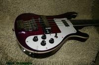 Custom Shop Purple 4 cuerdas 4003 estéreo Bajo eléctrico Guitarras al por mayor de China HOT