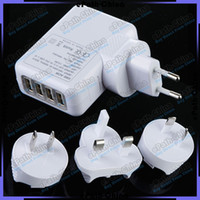 Wholesale Universal Port USB AC Adapter US EU UK AU Plug Wall Charger For iPhone S S C iPad Samsung HTC