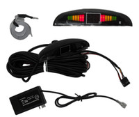 Cheap Freeshipping auto car electromagnetic parking sensor with led no holes need,easy install,parking radar,Bumper guard back-up parking sensor