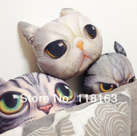 Cheap 5 Design New Cat Plush Toy Doll Stuffed Soft Cushion Animal 3D Printing Pillow Birthday Gift Home Decoration 30*36cm