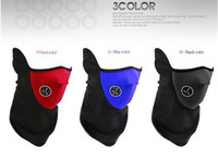 Wholesale Newly Black Neoprene Neck Warm Face Mask Veil Sport Motorcycle Cycling Ski Snowboard Guard PS DHL