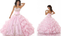 Cheap Lovely Pink Vestido De 15 Anos 2014 Curto Quinceanera Dresses Applique With Rhinestone Ball Gown Made In China Girl Party Dresses Organza ZC
