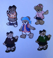 Wholesale Mixed Cartoon Bears Embroidered Ironing Sewing Applique Iron on Patches