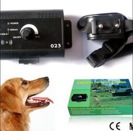 Eléctrico subterráneo perro pequeño perro que cerca el collar del choque Sistema de cerca el sistema de mascotas personalizada impresión de la insignia en el embalaje caso