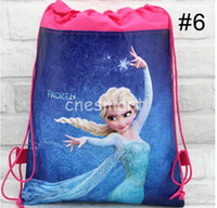 Hot sale!! 7 styles drawstring bags Anna Elsa backpacks hand...