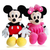 Wholesale OP retail sale mickey and minnie Plush toy baby children soft toy kinds cm high baby product
