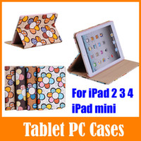 Cheap Fashion Design Sunflower Case Cover For Apple iPad 2 3 4 Mini With Auto Wake   Sleep Feature Best Cheap Stand Holster Free shipping