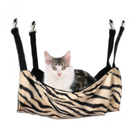 Wholesale 2014 New Arrival Zebra Stripe Leopard Dot Pattern Pet Products Cat Bed Cage Bed Small Pet Hang On Hammock